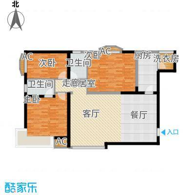 沈阳恒大城135.00㎡沈阳恒大城户型图C户型3室2厅1卫户型3室2厅1卫