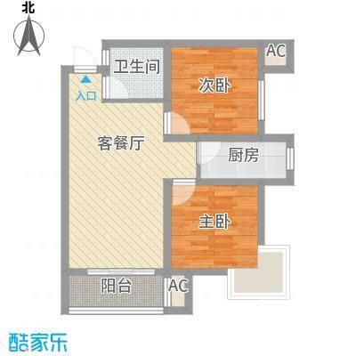 东兴寓城花园东兴寓城花园户型图3-B户型(已售完)2室2厅1卫户型2室2厅1卫