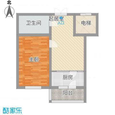 航萃园二期户型图1室1厅1卫