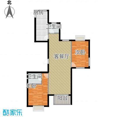 馨逸家园117.51㎡E3户型2室2厅2卫