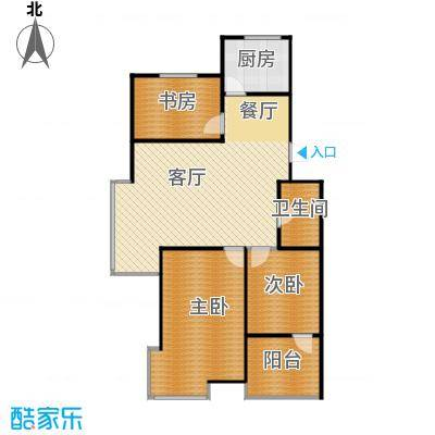 瑞赛居圣苑98.00㎡四层14#户型3室1厅1卫1厨