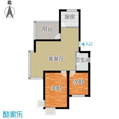 瑞赛居圣苑102.00㎡三层14#户型2室1厅1卫1厨