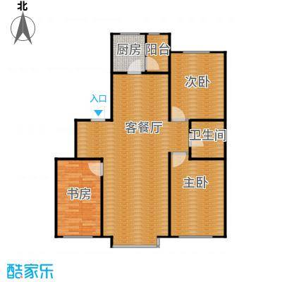自由花园118.15㎡d户型3室1厅1卫1厨
