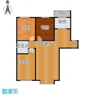 自由花园118.86㎡c户型3室1厅1卫1厨