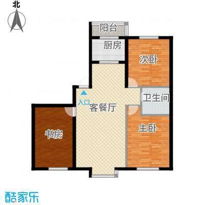 自由花园120.61㎡5号楼c户型3室1厅1卫1厨