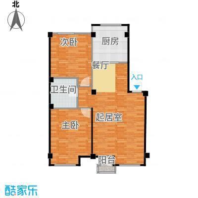 万科兰乔圣菲86.92㎡2-34&nbsp&nbsp别墅面积区间户型2室1卫1厨