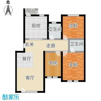泰和尚都137.28㎡泰和尚都户型图三室两厅两卫(4/7张)户型10室