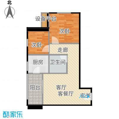 优活城户型2室1厅1卫1厨