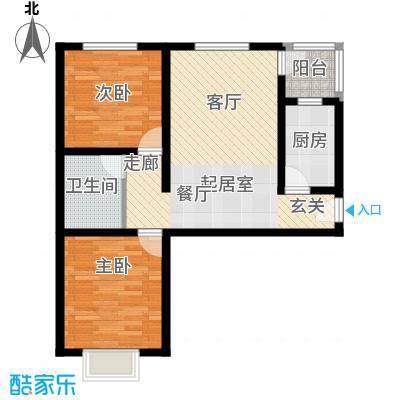 百万小镇百万小镇2室2厅1卫户型2室2厅1卫