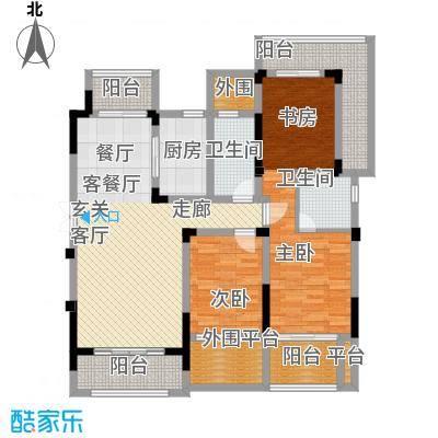 东宝康园122.00㎡A3户型3室2厅2卫