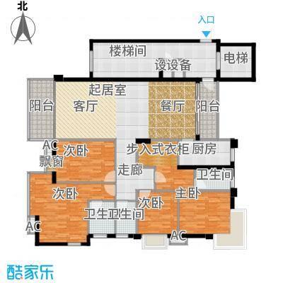 锦绣旗峰户型4室3卫1厨