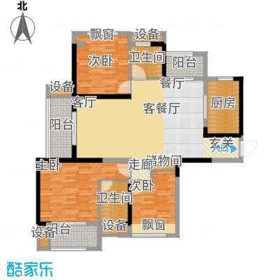 东宝康园户型3室1厅2卫1厨