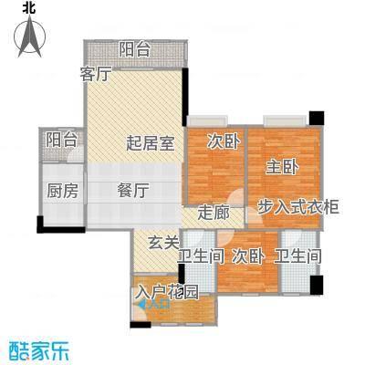 奥园海景城136.70㎡C1-04、C2-03户型3室2卫1厨