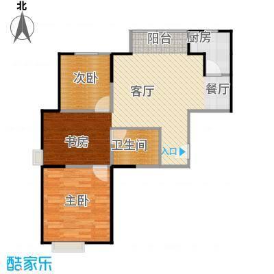 世纪祥和新园91.15㎡C118-23层户型2室2厅1卫