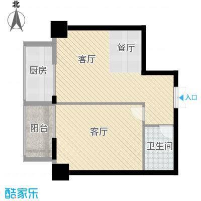 大明宫寓81.72㎡户型2厅1卫1厨