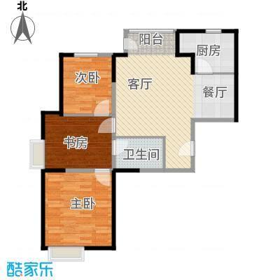 世纪祥和新园91.14㎡C11-17层户型2室2厅1卫