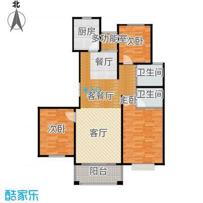 广泰瑞景城99.60㎡B2-1户型3室2厅2卫