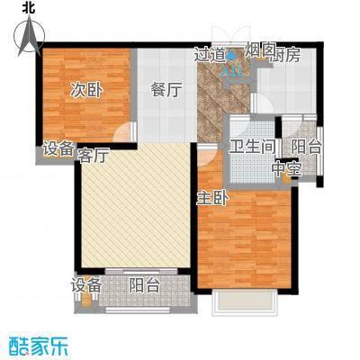 高速仁和盛庭94.14㎡6# B户型 两室两厅一卫 94.14㎡户型2室2厅1卫