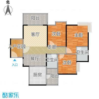 鹏达丽水湾104.00㎡8栋05户型3室2厅2卫
