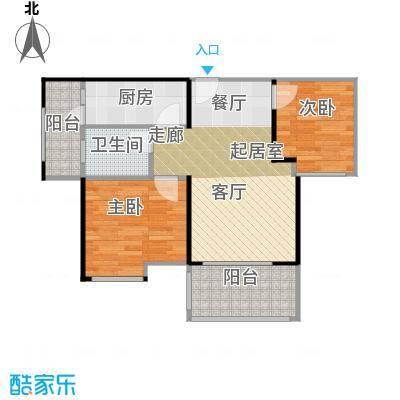 鹏达丽水湾70.00㎡8栋02户型2室2厅1卫