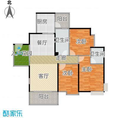 鹏达丽水湾114.00㎡8栋01户型3室2厅2卫