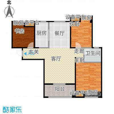 紫阳楚世家户型3室1厅1卫1厨