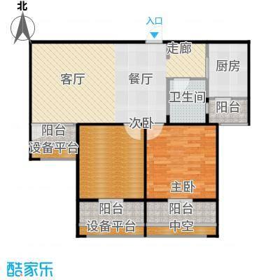 紫阳楚世家户型2室1厅1卫1厨