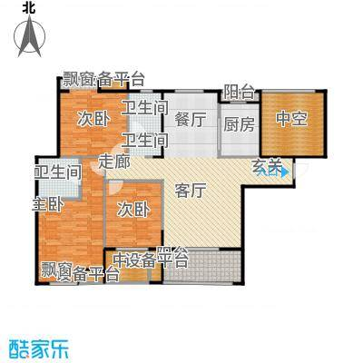 紫阳楚世家户型3室1厅2卫1厨