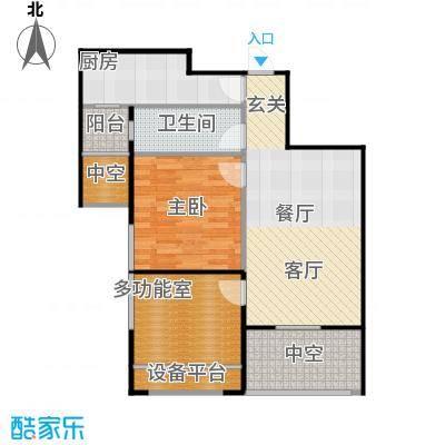 紫阳楚世家户型1室1厅1卫1厨