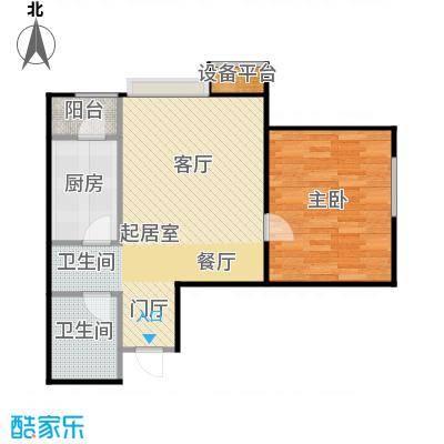 炫彩SOHO66.42㎡A9/B9户型一室一厅一卫户型1室1厅1卫