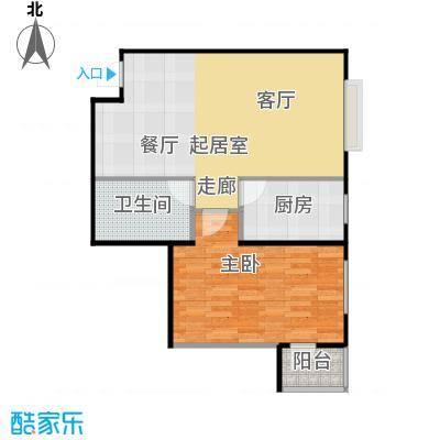 炫彩SOHO76.94㎡A7/B7户型一室两厅一卫户型1室2厅1卫