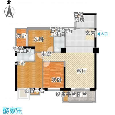 时代财富城123.02㎡3室2厅2卫