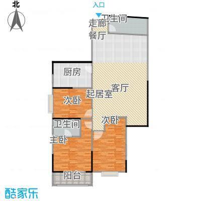建勋景怡鑫苑130.50㎡三房户型
