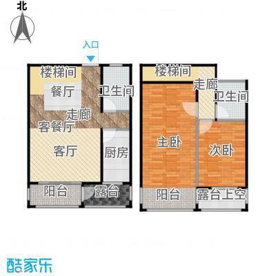 泰丰首府99.00㎡F3户型面积约99平户型2室2厅2卫