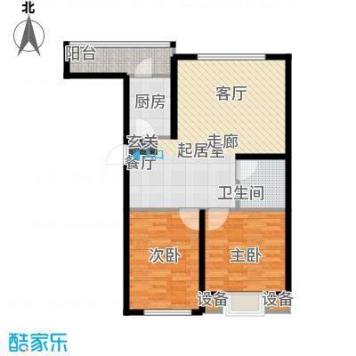 天福城户型2室1卫1厨