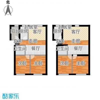 天福城户型4室2卫2厨