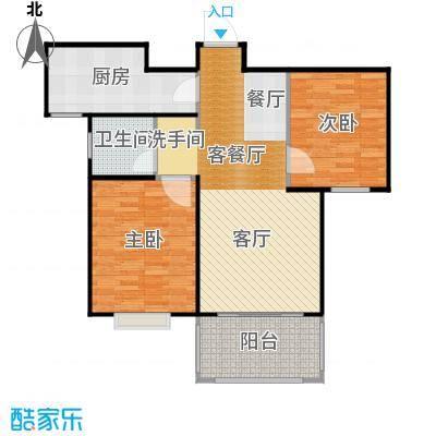 广泰瑞景城84.43㎡户型2室2厅1卫