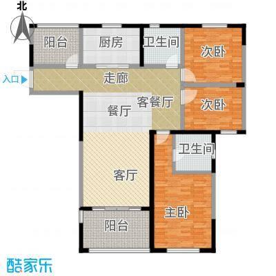 华新城139.00㎡C户型3室1厅2卫1厨