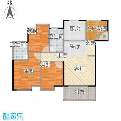鹏达丽水湾104.00㎡8栋03户型3室2厅2卫