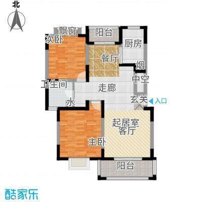 金港河滨华城101.82㎡二房二厅一卫,面积约112-108平方米户型