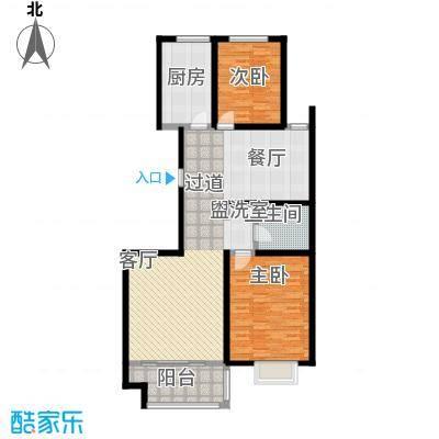 高速仁和盛庭116.38㎡12#F户型2室2厅1卫