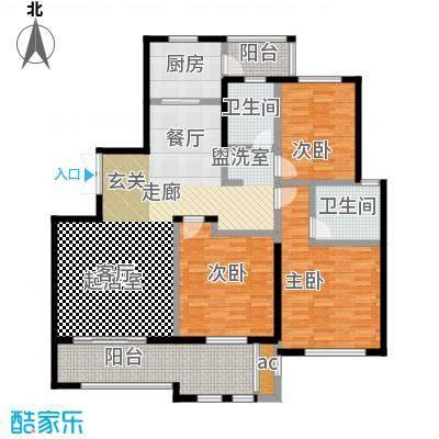 中央景城136.00㎡四期D户型3室2厅2卫