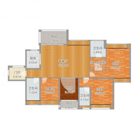 西湖怡景园4室2厅5卫5厨191.00㎡户型图