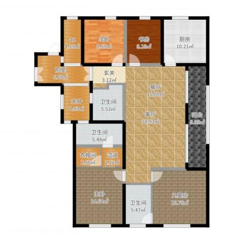 前程藏珑4室1厅4卫1厨180.00㎡户型图
