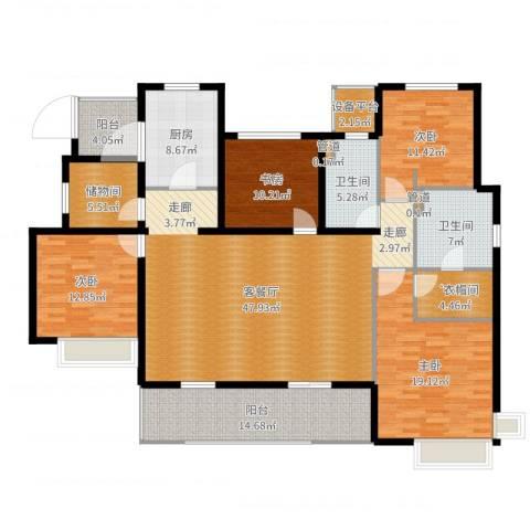 富力十号4室2厅2卫1厨192.00㎡户型图