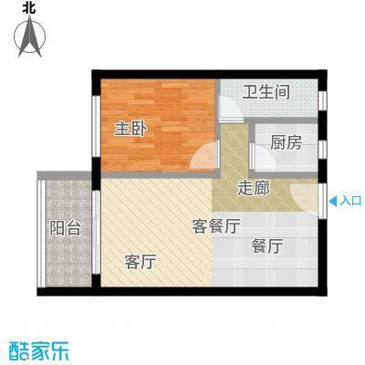 虎门国际购物中心49.01㎡户型1室1厅1卫1厨