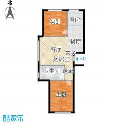 西山林语西山林语户型图B12 85平两居户型