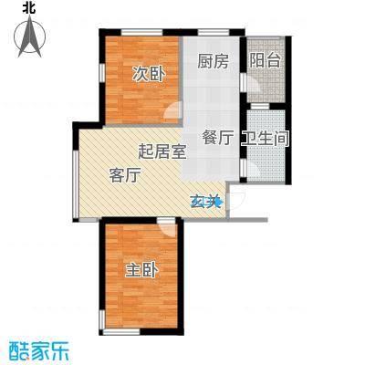 西山林语西山林语户型图B12 88平两居户型