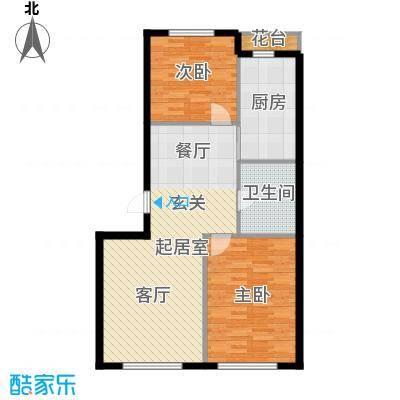 西山林语西山林语户型图B12 13 81平两居户型