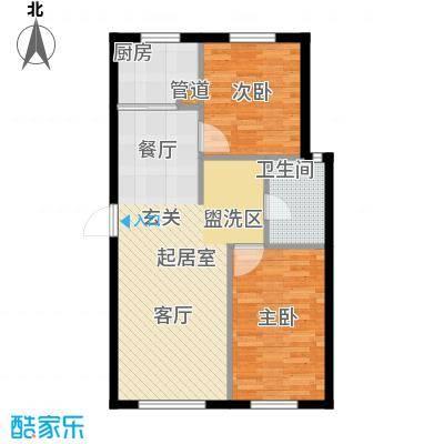 西山林语西山林语户型图B6 89平两居户型